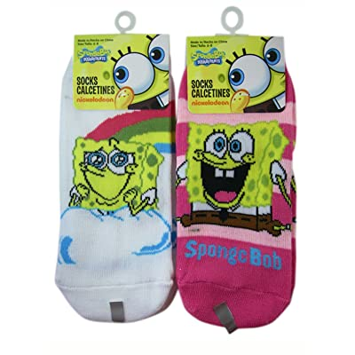 3 Pair Assorted Spongebob Squarepants Socks (Size 6-8) - Girls Socks
