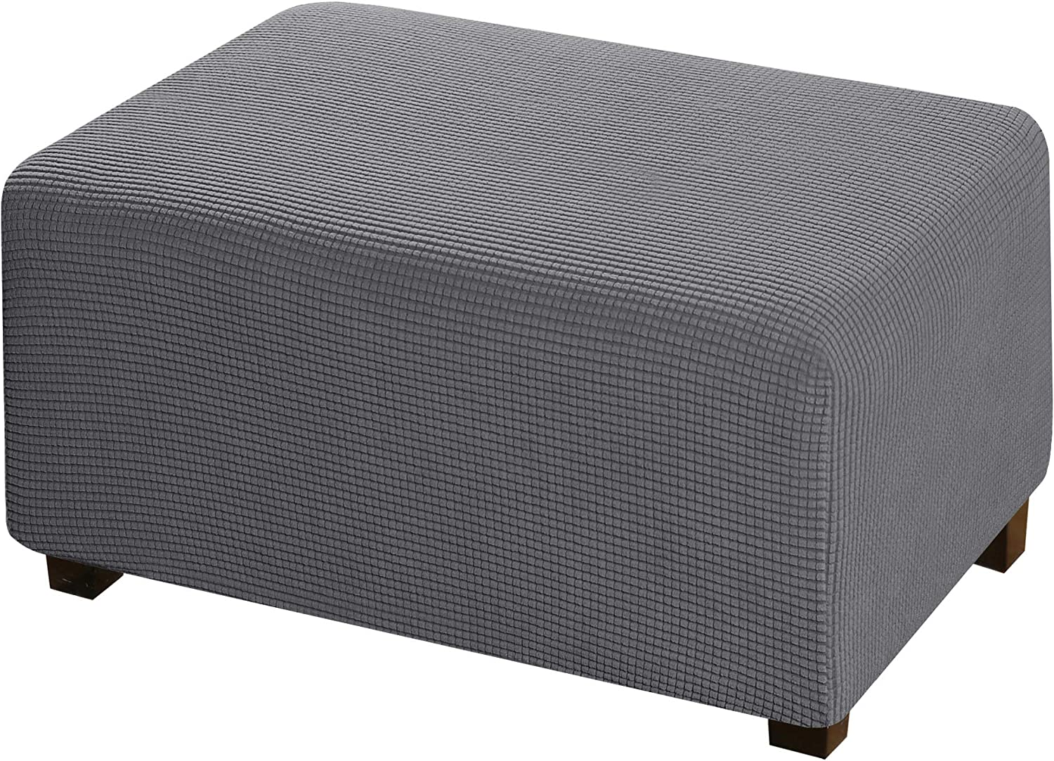 Spandex Footrest Cover Square Ottoman Footstool Protector Stretch Slipcover Home