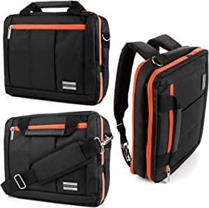 10.1 to 12.4 Inch Laptop Tablet Shoulder Messenger Bag for Dell Inspiron 11 3180, 3195, 3195 2 in 1, Latitude 7210, 7210 2 in 1, 5290 2 in 1, 7200 2 in 1, 7285 2 in 1, Samsung Galaxy Tab S7 Plus, S7