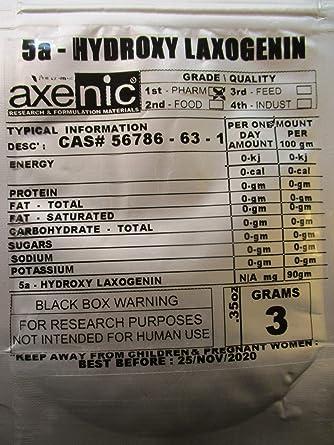 fc02eb90e12b 3 Grams 5a - Hydroxy laxogenin Powder