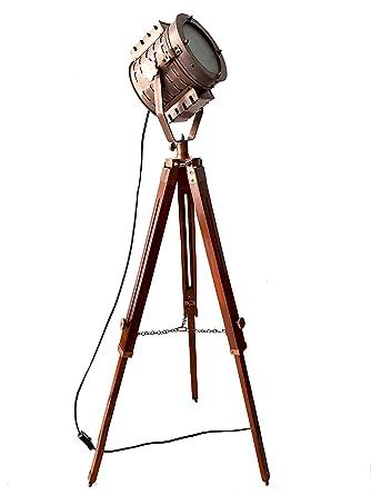 Royal Designer Copper Antique Marine Searchlight Nautical