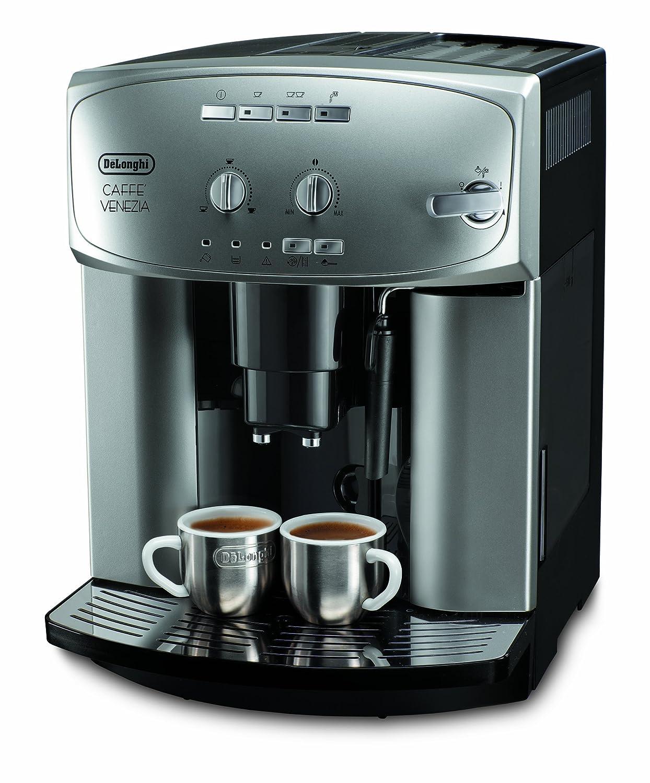 DeLonghi Magnifica ESAM 2200 - Máquina de café, goteo, granos de café, café molido, capuchino, café expreso, 1,8 l, 1350 W, color plata