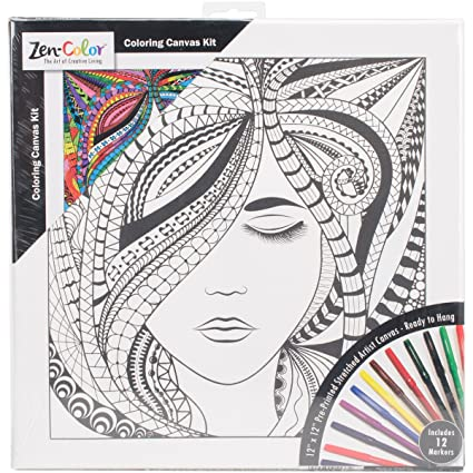 Amazon.com: Janlynn 108-0107 Adult Coloring Canvas 12\