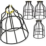 Newhouse Lighting Metal Lamp Guard for Pendant String Lights and Vintage Lamp Holders, Industrial Wire Iron Bird Cage, 4…