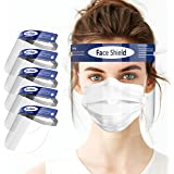 Zooaux Face Shield with Clear Vision, Adjustable, Lightweight and Anti-Fog (5-Packs)