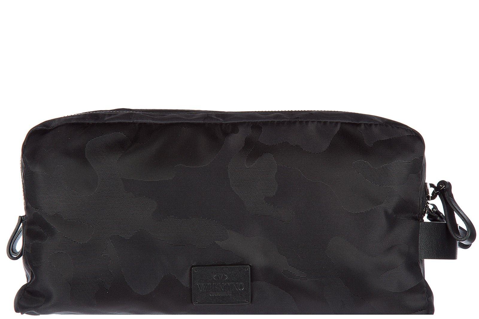 Valentino men's Nylon travel toiletries beauty case wash bag black by Valentino