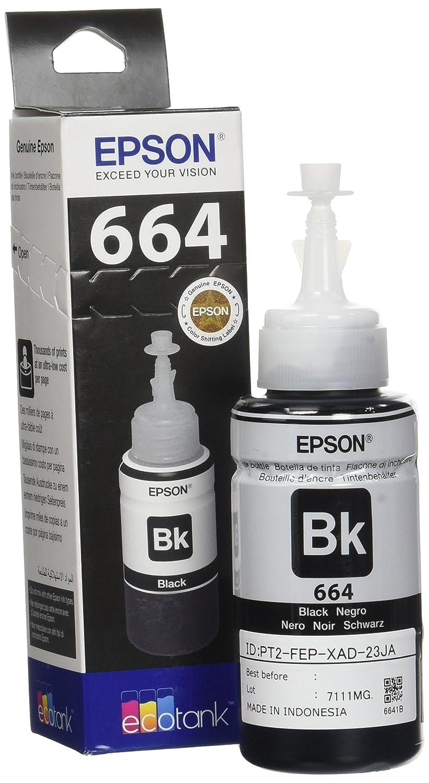 Epson Original T6641 Tintenpatrone Ecotank Singlepack Schwarz Tinta T664 Brobedarf Schreibwaren
