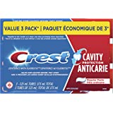 Crest Cavity Protection Toothpaste, Regular Paste, 125 ml, 3 Count