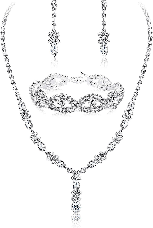 Bridal necklace Set,bridesmaid jewelry Wedding jewelry,crystal jewelry. bridal jewelry set earrings