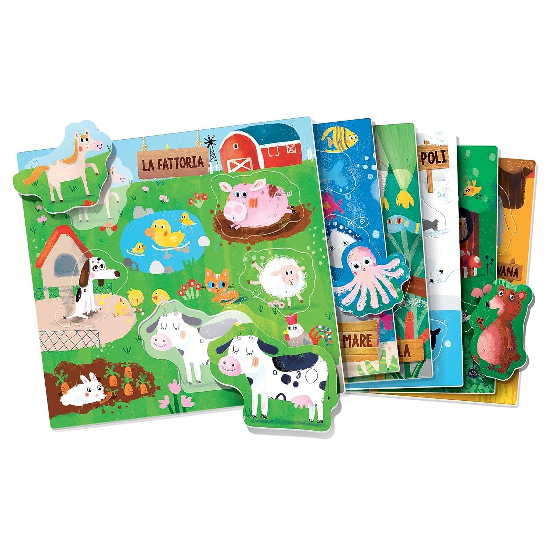 Headu IT21932 Gli Animali sagomati Montessori