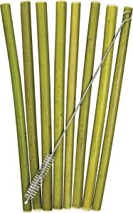 Totally Bamboo 8-Pack Reusable Bamboo Drinking Straws, Dishwasher Safe
