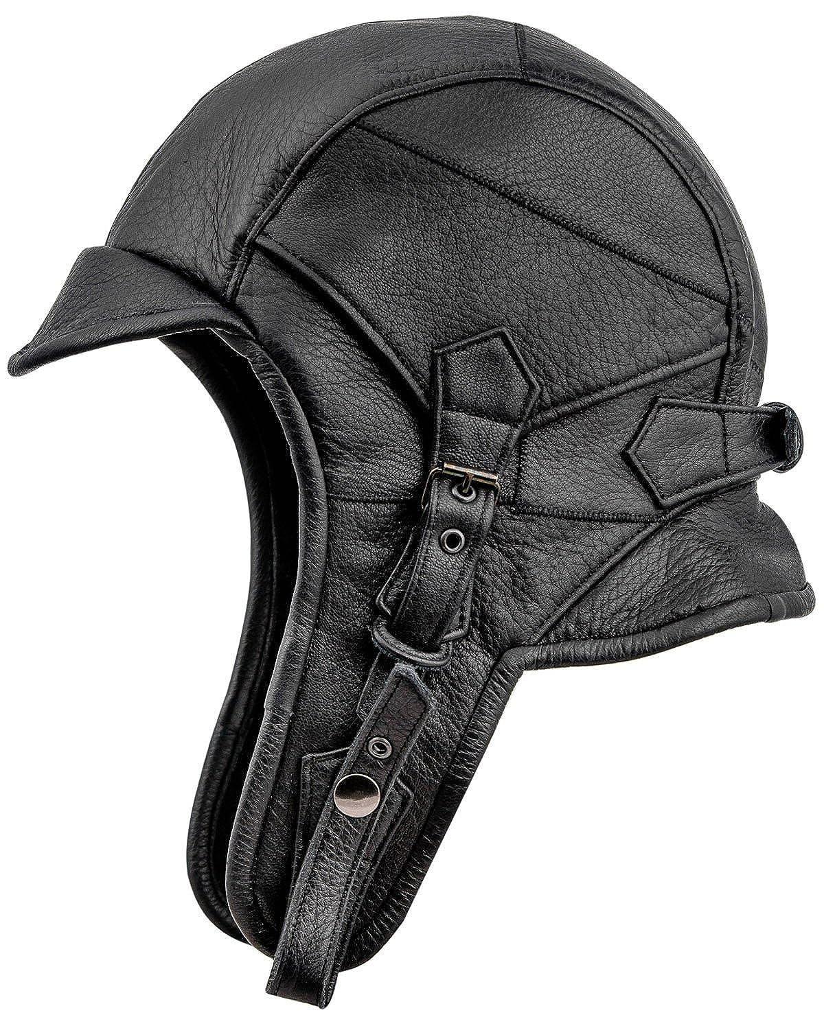 0a1c41b4f Sterkowski Genuine Leather 8 Aviator Helmet Trapper Cap