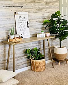 Urban Decor Vinyl Wall Panels with Vintage Wood Pattern, Easy Peel and Stick, 36in x 6in (12pcs/Box = 18sqft/Box) (Cypress)