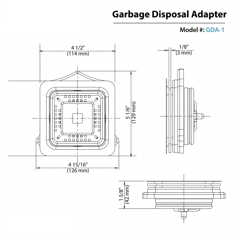 American standard garbage disposal wiring diagram wiring diagram kraus pax garbage disposal adapter gda 1 amazon com whirlpool stove wiring diagram american standard garbage disposal wiring diagram cheapraybanclubmaster Gallery