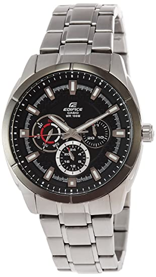 CASIO 19092 EF-327D-1A - Reloj Caballero cuarzo brazalete metálico dial negro: Casio: Amazon.es: Relojes