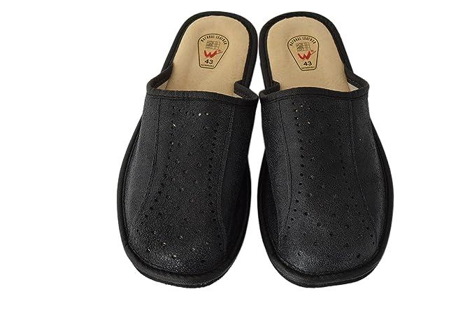 Natleat SlippersSlipper Mules - Sandali con Zeppa Ragazzi uomo , nero (Black), 48 EU
