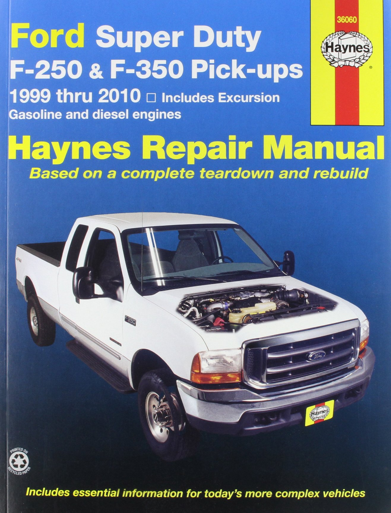 Haynes Ford Super Duty P/U and Excursion (99 - 02) Manual: Manufacturer:  0038345360602: Amazon.com: Books
