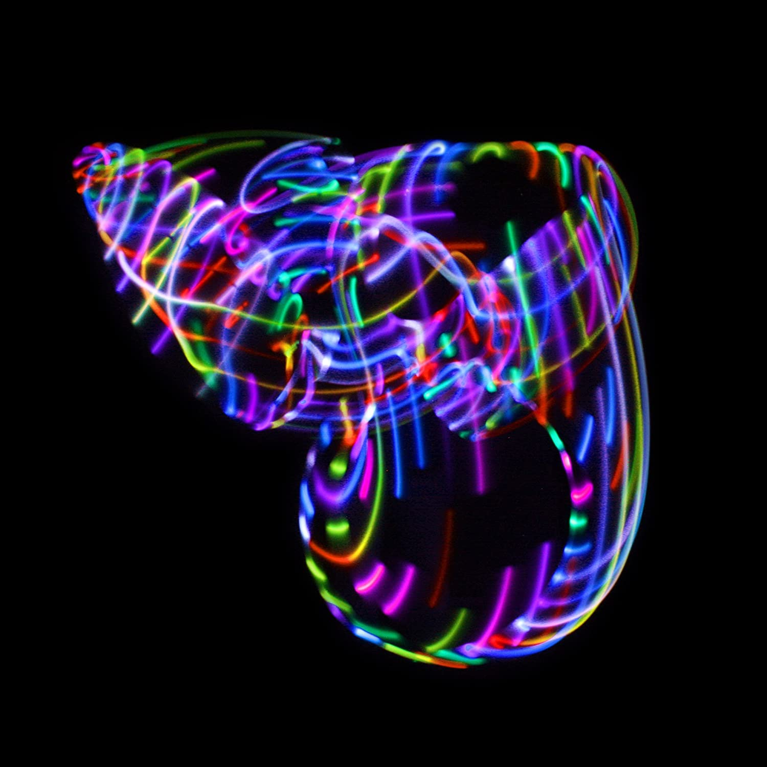 Multiple Light Up Hoola Hoops for Adults and Kids Technicolor Prism LED Hula Hoop Fully Rechargeable and Collapsable 14 Color Strobing and Changing LED Lights