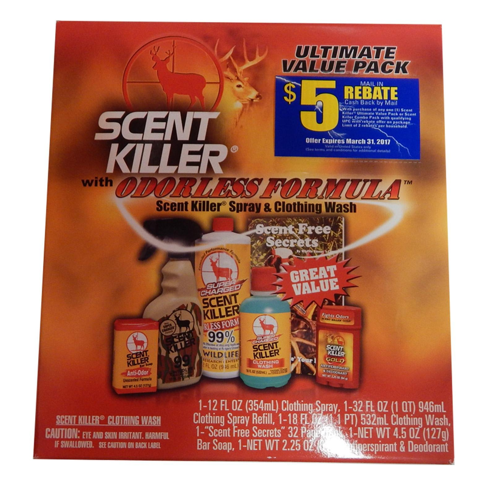 Wildlife Scent Elimination Kit Scent Killer Kit Super Charged Box Kit 80660