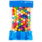 "Bulk Dubble Bubble 1"" Gumball in a Resealable Bomber Bag -Guaranteed 5 lbs - Fresh, Tasty Treats – Wholesale Gumballs For Vending Refills -Great For Parties Or At The Office"