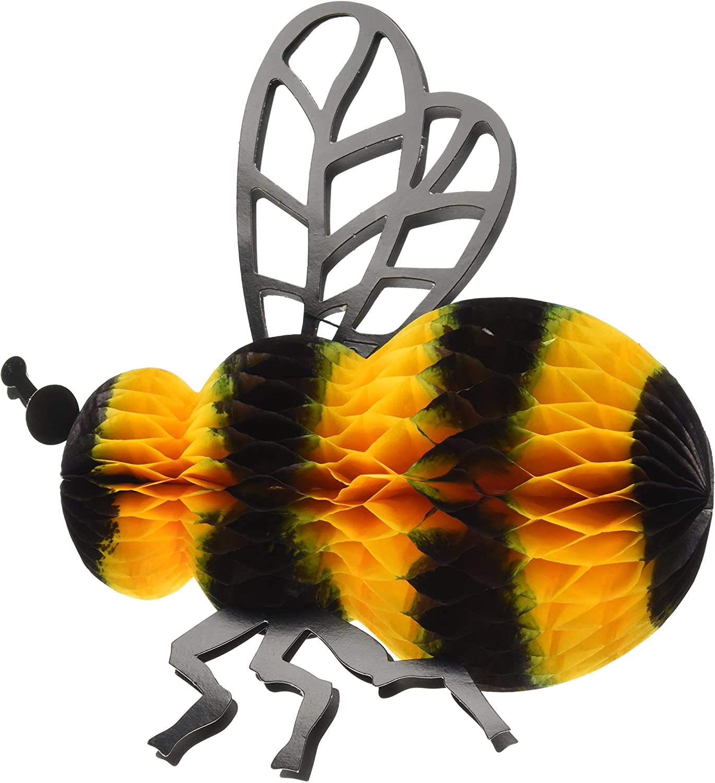 Beistle Tissue Bee, 8-Inch,Gold/Black