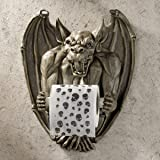 Toilet Paper Holder - Flush the Gargoyle Gothic Bathroom Decor - Toilet Paper Roll - Bathroom Wall Decor