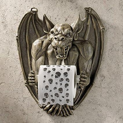 extraordinary inspiration gold toilet paper. Toilet Paper Holder  Flush the Gargoyle Gothic Bathroom Decor Roll Amazon com
