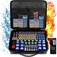 Battery Organizer Holder Storage, 240+ Fireproof Batteries Case Containers Box with Tester Checker BT-168. Garage Gadget…