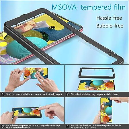 MSOVA para Samsung Galaxy A51 Protector de Pantalla +Protector ...