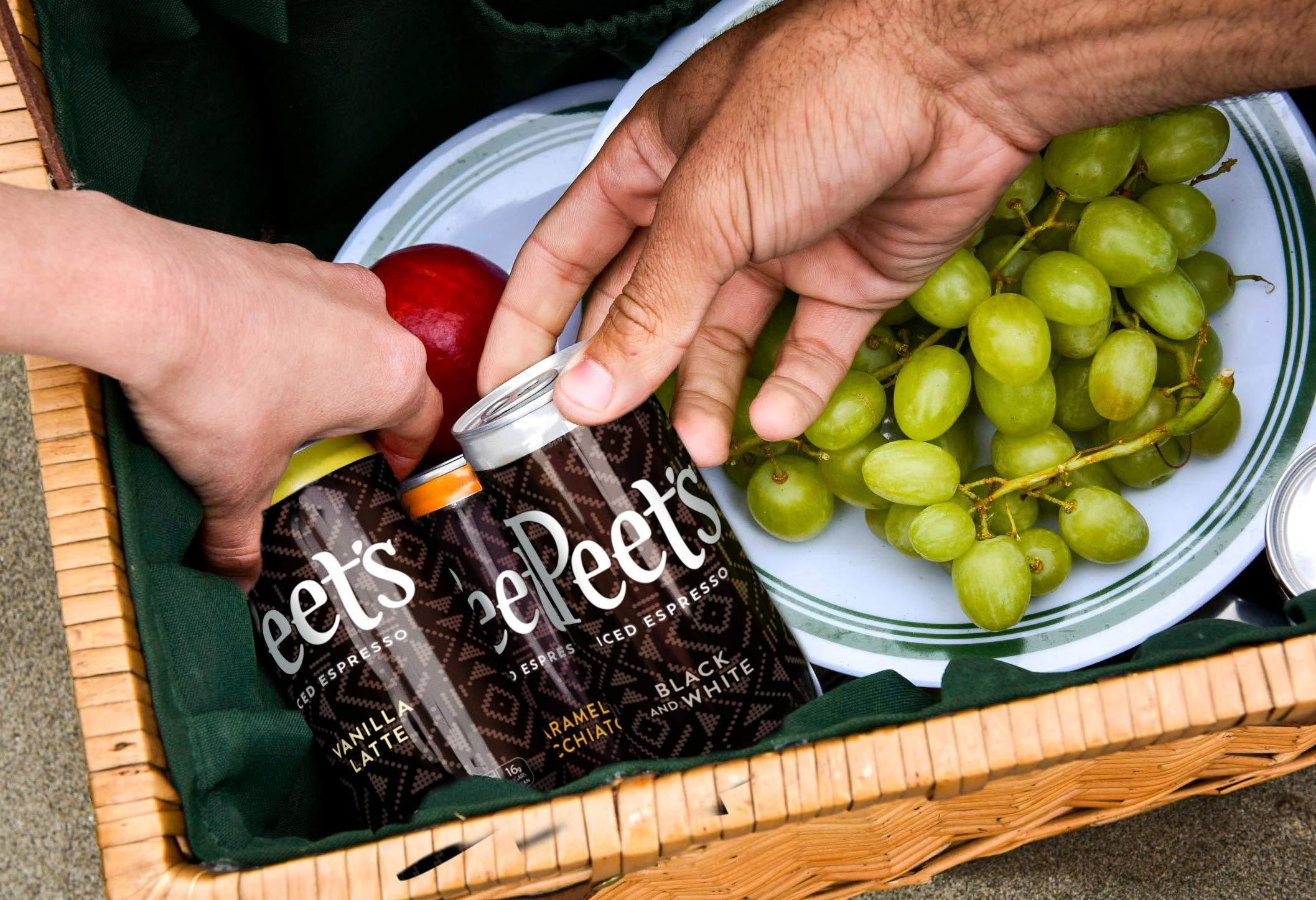 Peet's Iced Espresso Mocha Chocolate 8 oz Can (12 Count) Single-Origin Colombian Espresso with Dutch Process Cocoa & Milk 110 Calorie 17 grams of sugar by Peet's Coffee (Image #6)