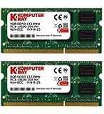 Komputerbay 16GB (2x 8GB) DDR3 PC3-10600 10666 1333MHz SODIMM 204-pin del computer portatile di memoria 9-9-9-24