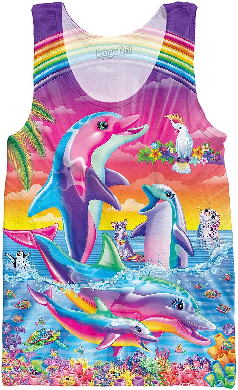 RageOn Lisa Frank Dolphins Premium All Over Print Tank Top