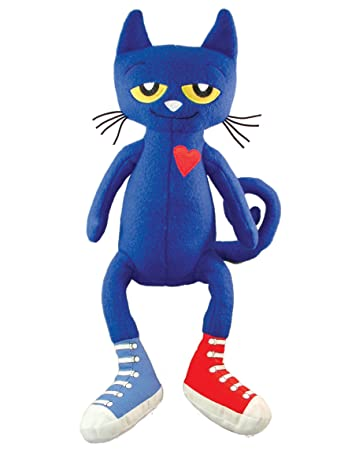 amazon com merrymakers pete the cat plush doll 14 5 inch