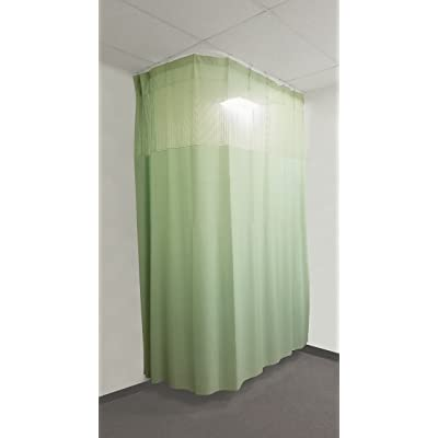 10 Ft Medical Curtains W Track Hospital Lab Clinic Room 10ft High Green