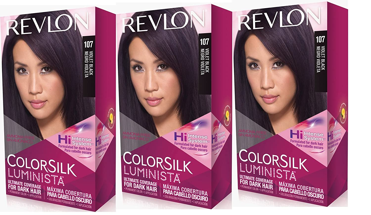 Amazon.com : Revlon Colorsilk Luminista Haircolor, Dark Chocolate Brown, 3 Count : Beauty