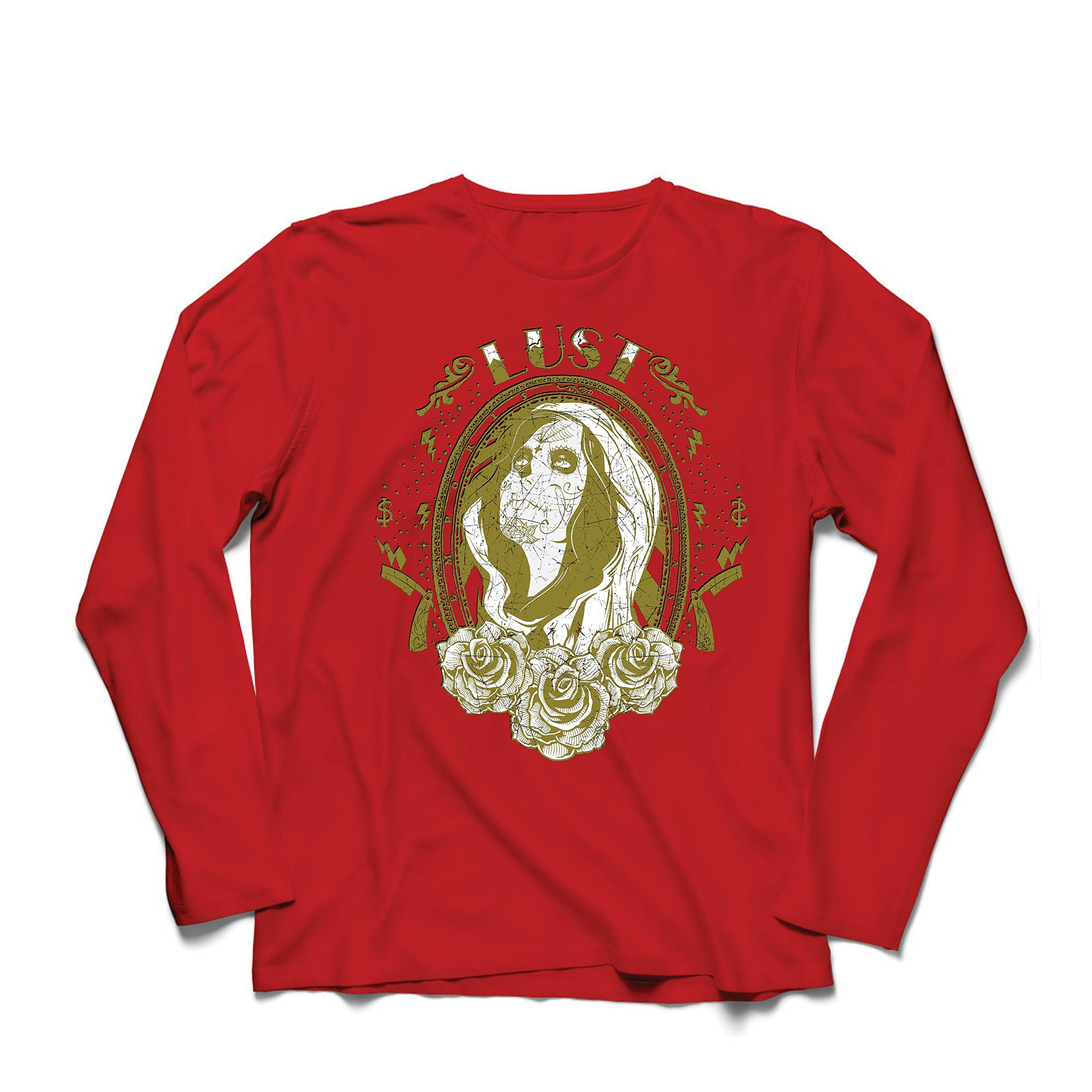 S T Shirt Lust Mexican Style Design Dia De Los Muertos 8781