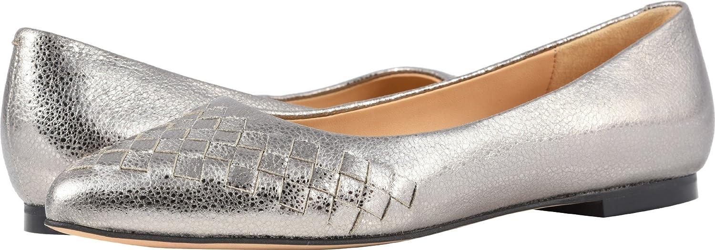 Trotters Women's Estee Woven Ballet Flat B07932VK4J 10 2W US|Silver