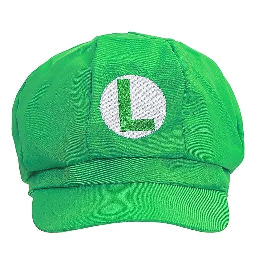77813e0705 Amazon.com: xcoser New Version Super Mario Bros Unisex Hat Cap Luigi Hat  Green: Clothing