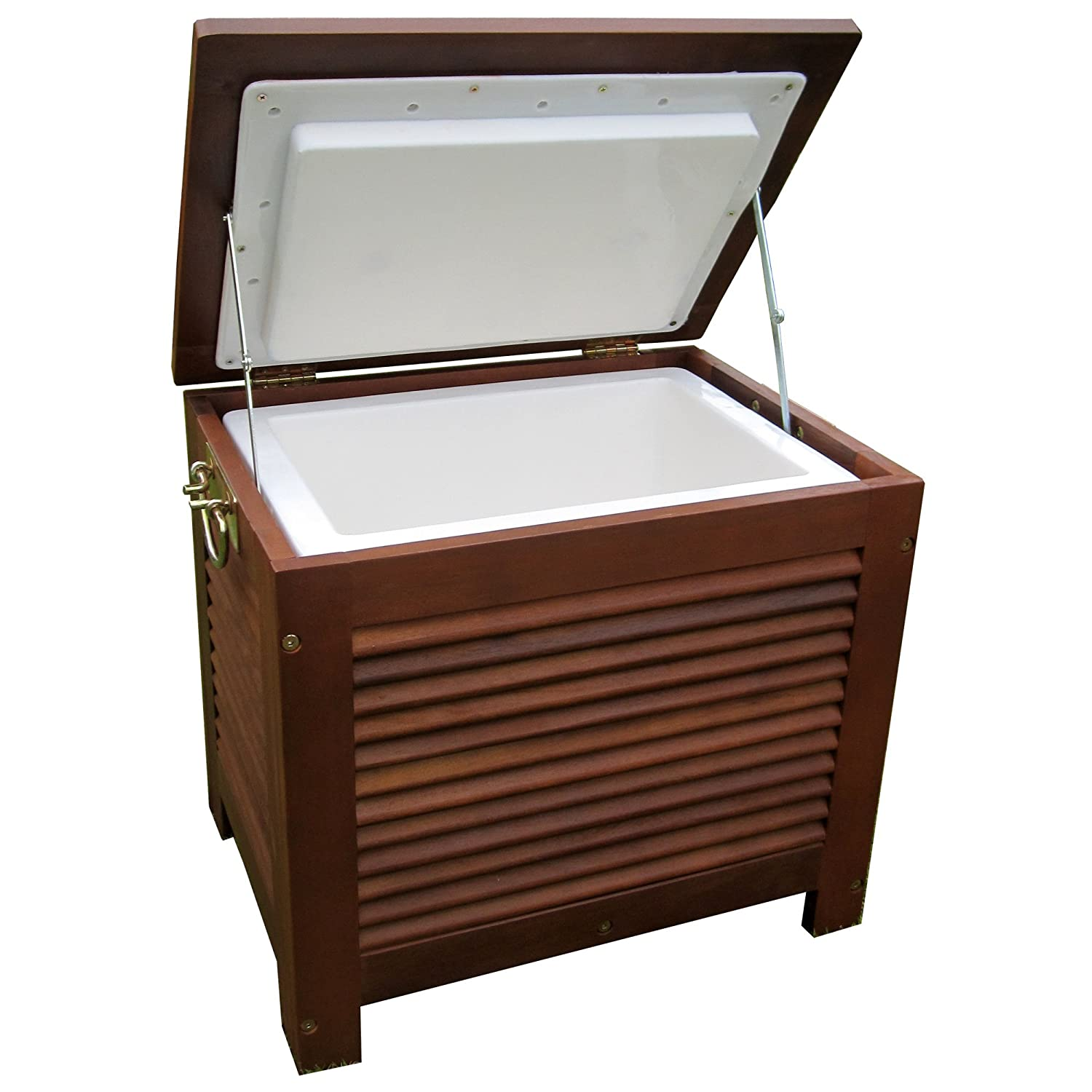 amazoncom merry garden mpg pc01 wooden patio cooler wood ice chest garden outdoor - Patio Coolers