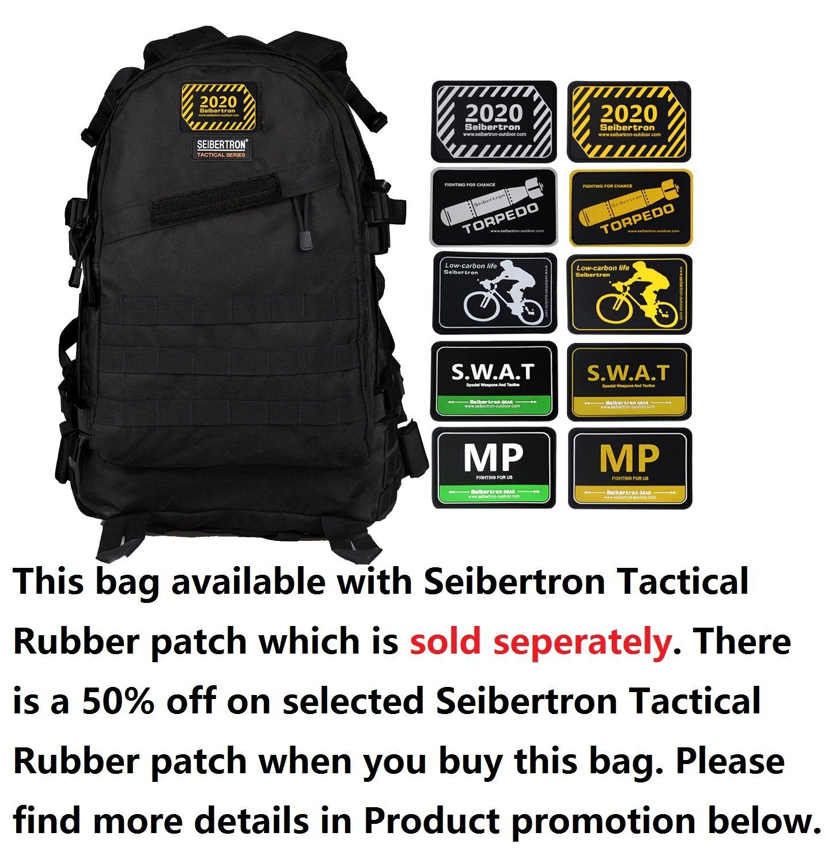 556747b92b Amazon.com  Seibertron Roving Motorcycle Riding Street Dirt Bike Waterproof  Rucksack Backpack with Raincover (black-main bag)  Automotive
