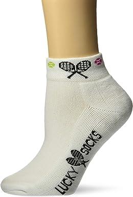 862ca3eeee0b5 K. Bell Socks Women's Met My Match Tennis Novelty Low Cut Athletic Socks