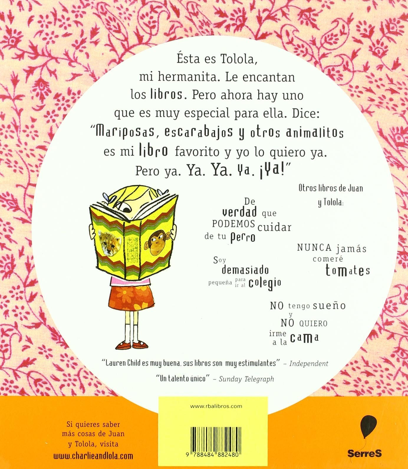 Perdona, Pero Ese Libro Es Mio/excuse Me, but That Book Is Mine (Spanish Edition): Lauren Child, Miguel Angel Mendo: 9788484882480: Amazon.com: Books