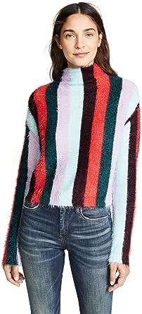 [BLANKNYC] Blank Denim Women's Multi Stripe Mock Neck Sweater