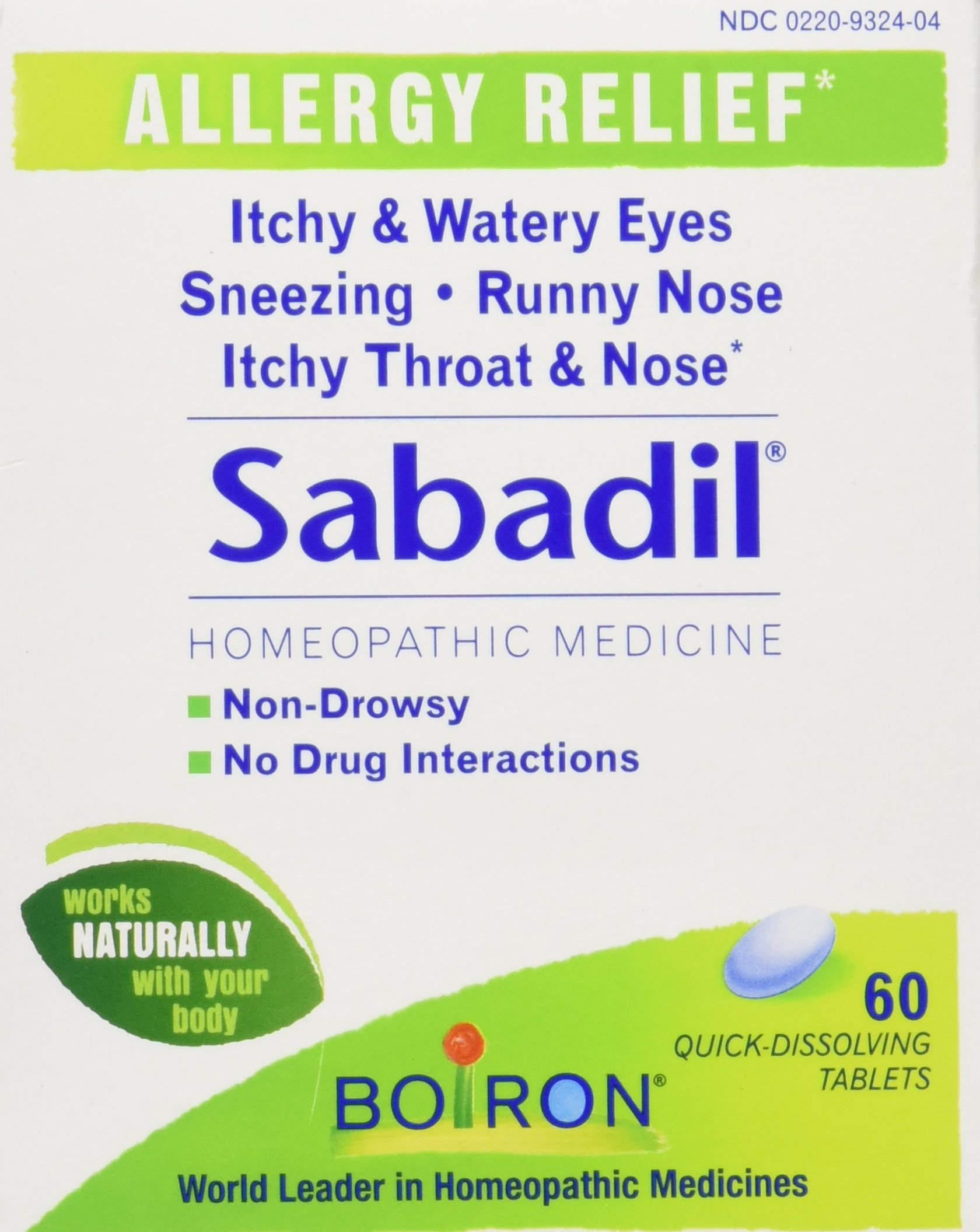 Boiron Sabadil, Homeopathic Medicine for Allergies,60 Tablets(Pack of 3)