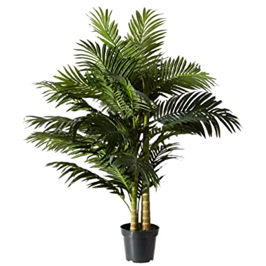 Nearly Natural 5326 8ft. Golden Cane Palm Silk Tree