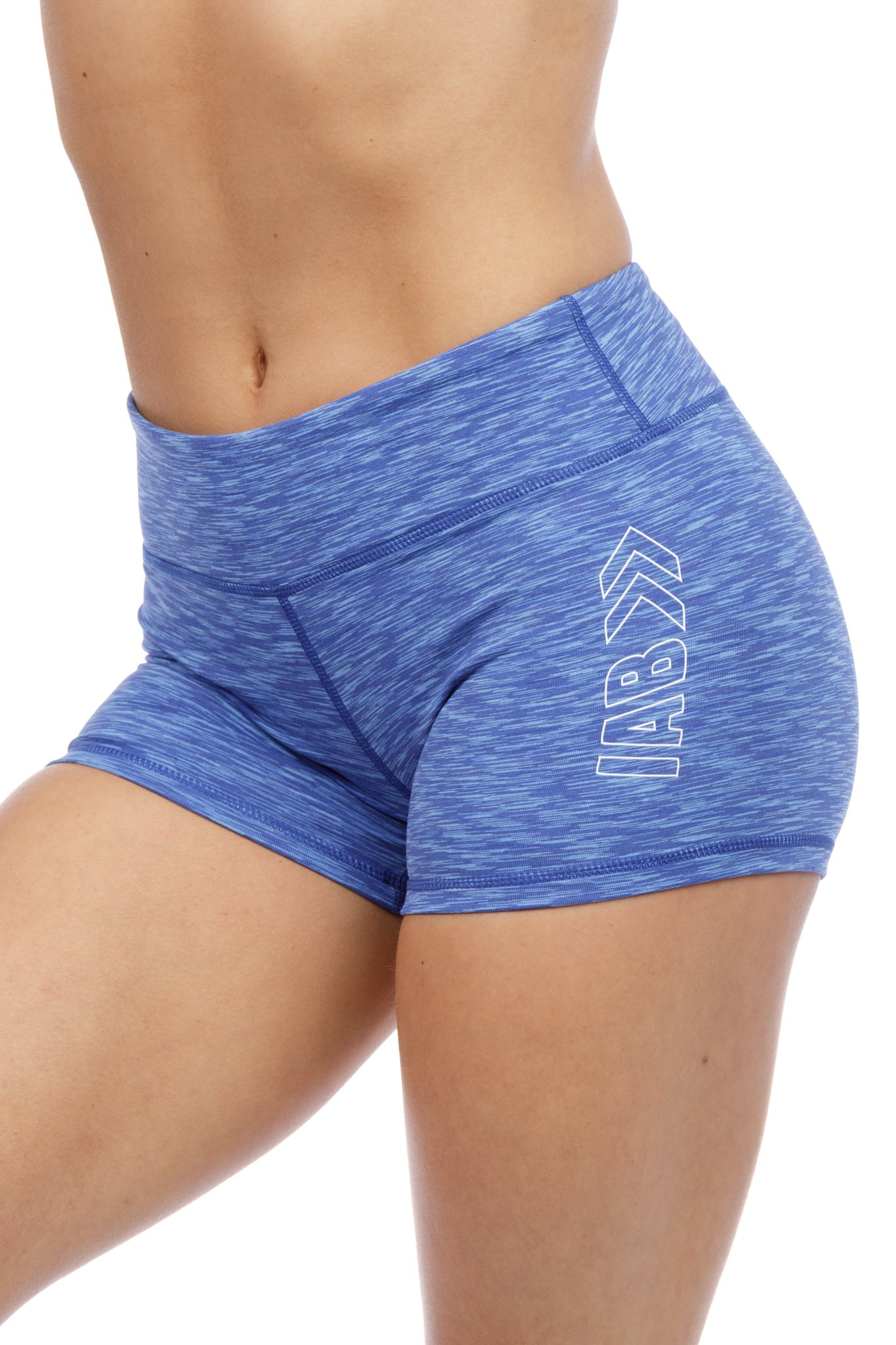 3'' Inseam Compression Shorts for Yoga, Running, Volleyball, and Crossfit Athletes (Large, Royal Blue Heather)