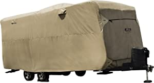 """ADCO by Covercraft 74846 Storage Lot Cover for Travel Trailer RV, Fits 31'7""""-34', Tan"""