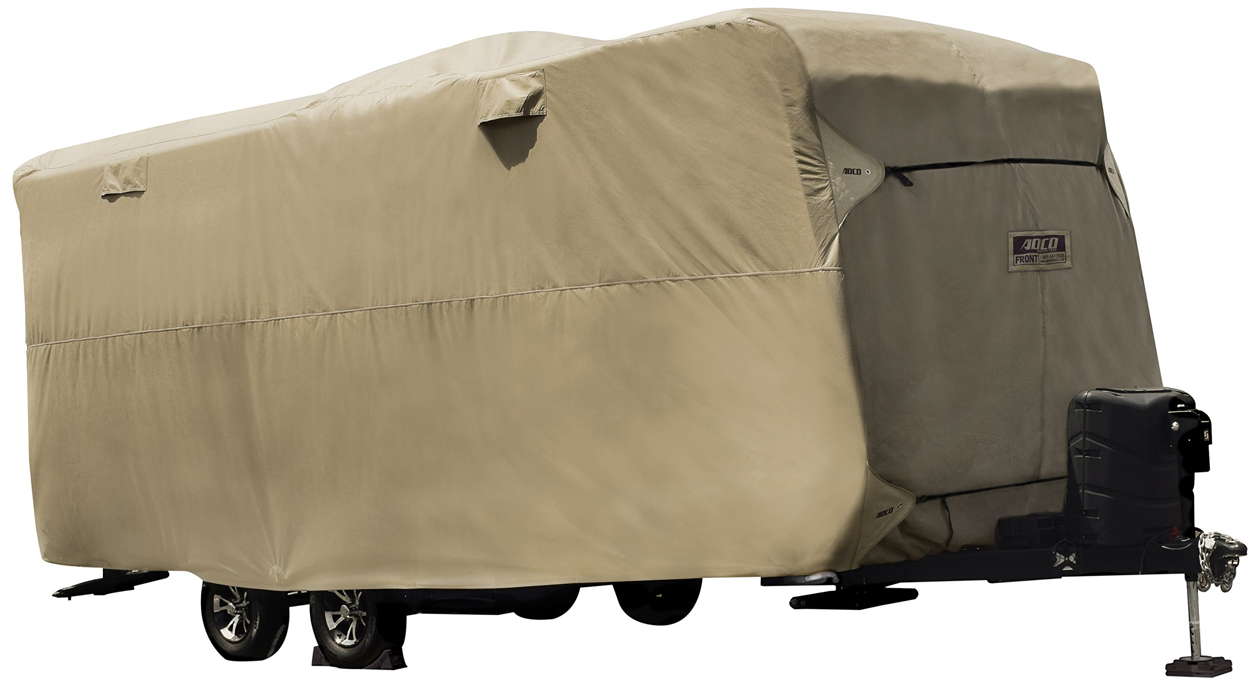 ADCO by Covercraft 74844 Storage Lot Cover for Travel Trailer RV, Fits 26'1''-28'6'', Tan