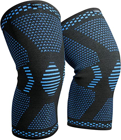 ACL Weightlifting Basketball Knee Compression Sleeve MCL Pain Relief Injury Recovery Black S Squats /& Workouts 1 Pair Crossfit Men /& Women Best Knee Brace Support for Running /& Arthritis