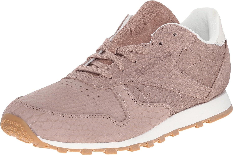 Objetivo sobresalir Letrista  Reebok V68797 Women's Classic Leather Clean Exotics Running Shoes,  Taupe/Chalk - 5: Amazon.ca: Shoes & Handbags